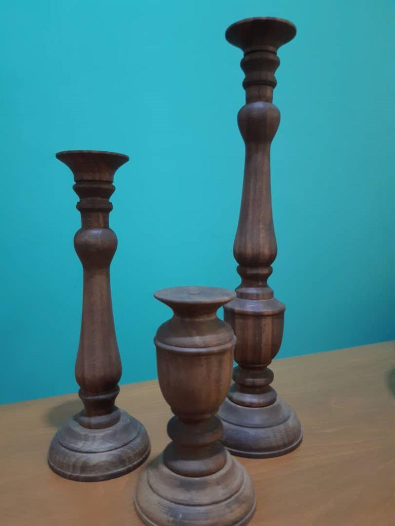 ست شمعدان چوبی | کد 110A