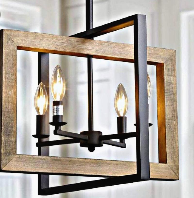 لوستر چوبی | کد 115L