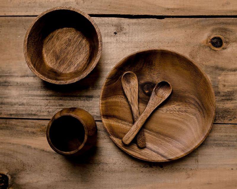 مزایای ظروف چوبی