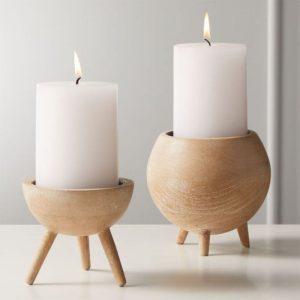اکسسوری و جا شمعی چوبی