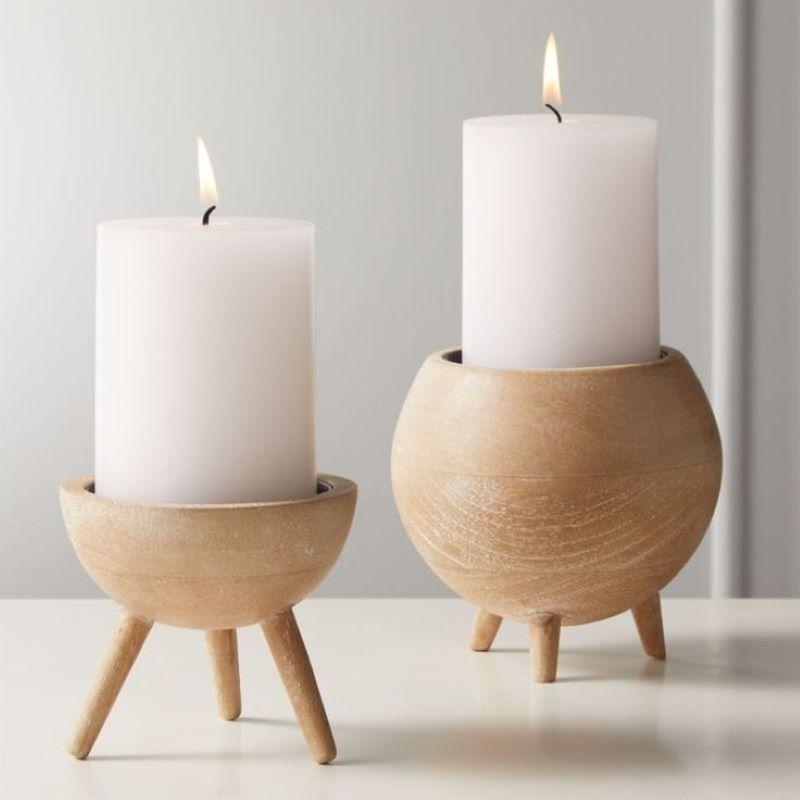 شمعدان چوبی | کد 140A