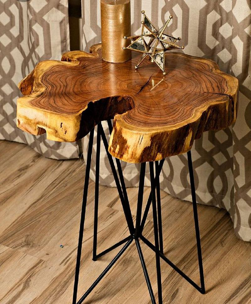 میز کنار مبلی چوبی | کد 125A