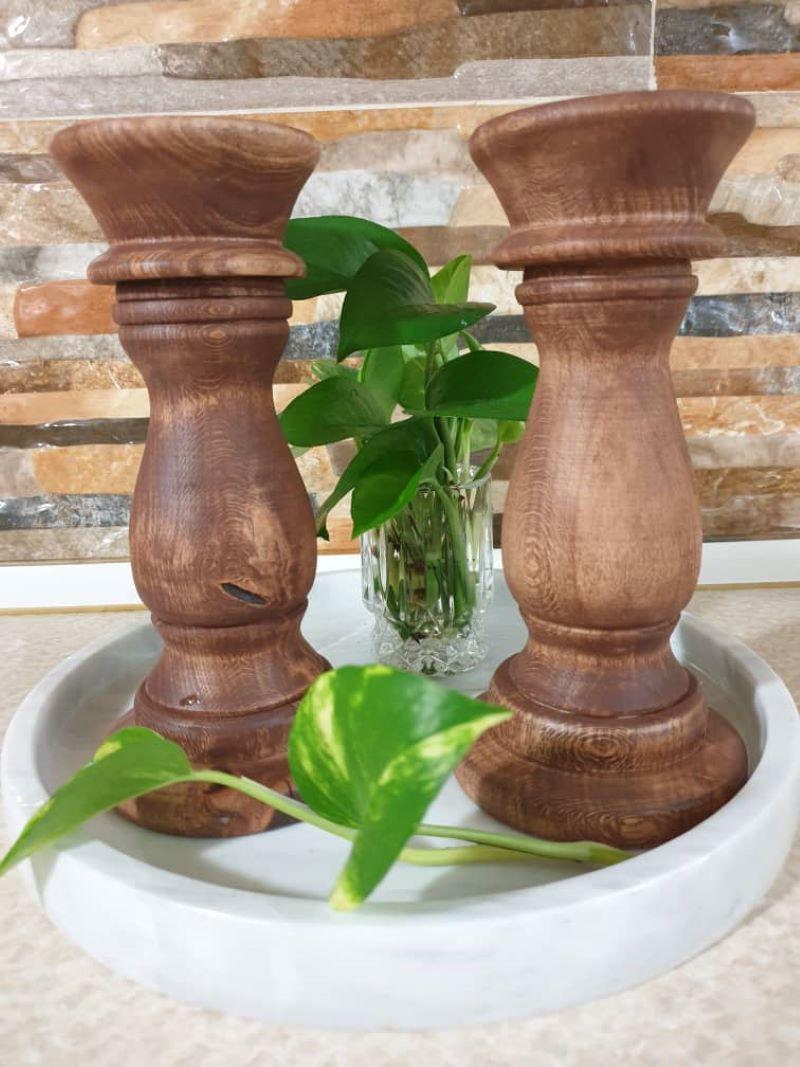 شمعدان چوبی | کد 180A