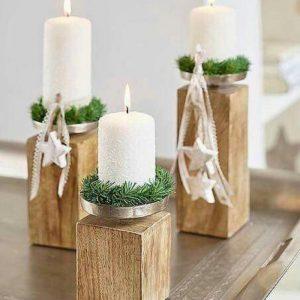شمعدان چوبی