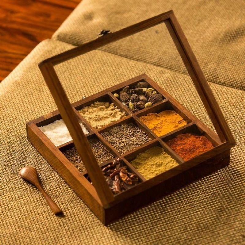 جا ادویه ای چوبی | کد 815D