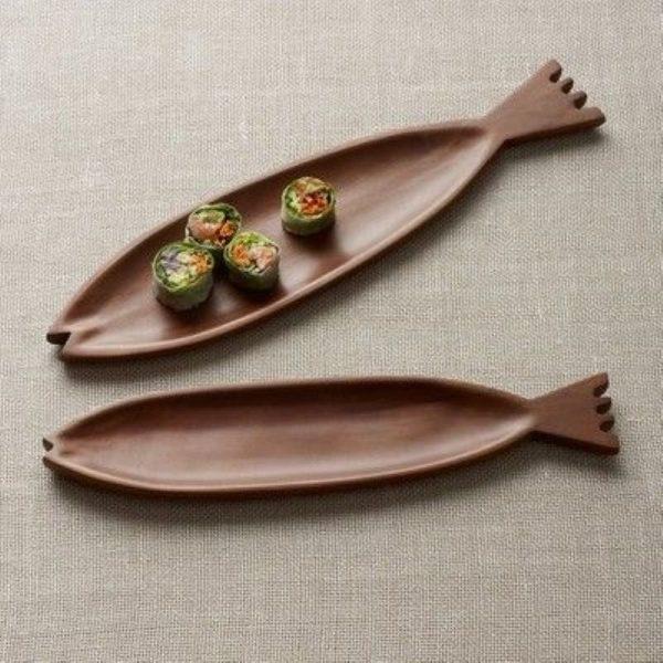 ظرف سرو چوبی