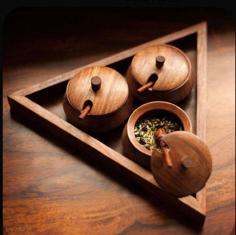 ست ظروف سرو چوبی | کد 980D