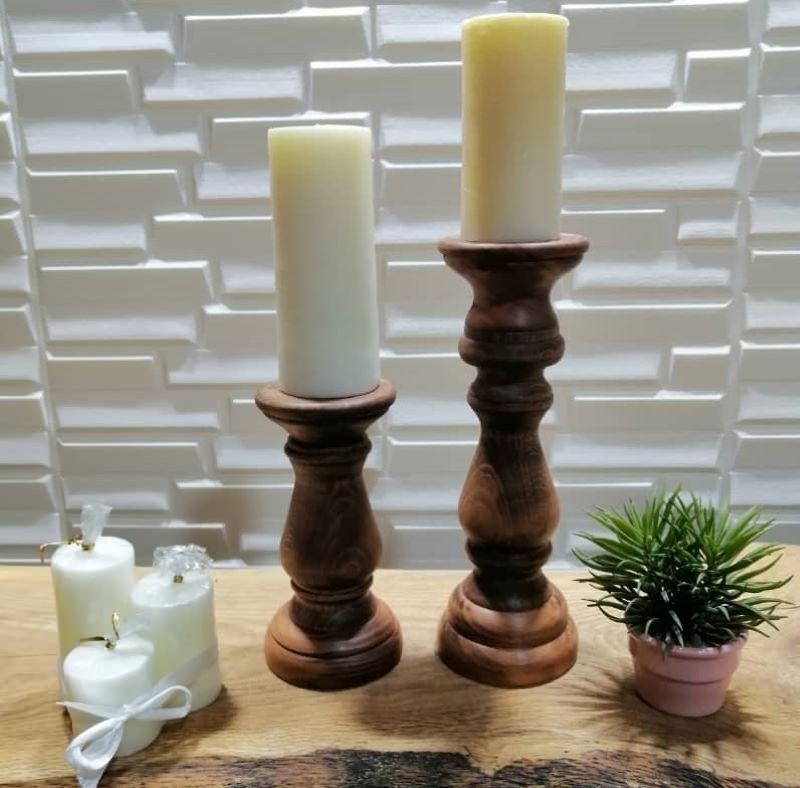 شمعدان چوبی | کد 300A